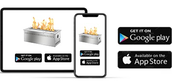 Download the app or use voice assistance for this automated fireplace