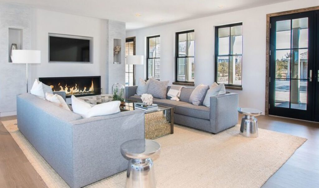 Cozy ambience fireplace